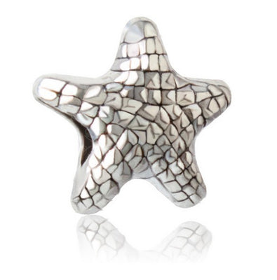 free shipping Fits Charms DIY Bracelet  necklace Authentic Sterling Silver 925 Bead Starfish  European Charm Women Jewelry