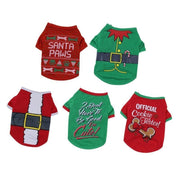 Dog Christmas Clothes Pet Santa Sweater Shirt Puppy Cat Pullover Hoodies Costume
