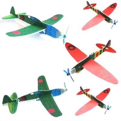 12 Stks DIY Hand Throw Flying Glider Planes Foam Airplane Party Bag Fillers Children Kids Toys Game