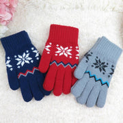 Stretch Snow Knitted Gloves For Women Men Heart Snowflake Gloves Smartphone Screen Use Mittens Wool Knit Warmer Gloves