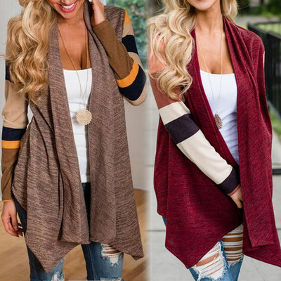 Women Patchwork Loose Shawl Kimono Cardigan Top Cover up Blouse Outwear