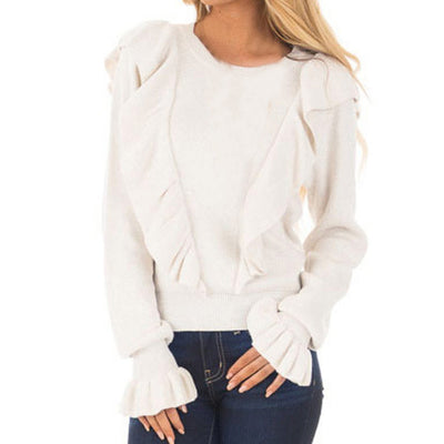 Womens Fashion Long Sleeve Blouse Loose Shirt  Tops