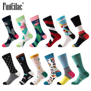 FUNCILAC Men Socks Colorful Cotton Socks Harajuku Hip hop Calcetines Marvel Meias Casual Happy Socks Meia Gifts For Men 1 pair
