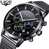 2018 Top Brand LIGE Watch Men Casual Waterproof Watches Men Ultra-thin Stainless Steel Quartz Clock Male Watch relogio masculino