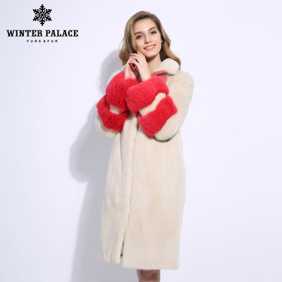 2018 Fashion models genuine mink fur coat Imported leather mink fur coats New trend mink fur coats women