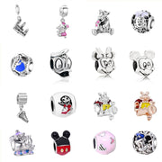 Minnie Mickey Mix Charm Silver Bijoux Beads Fit Original Pandora Bracelets For Women Charm DIY Jewelry Accessories