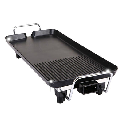26Pcs Electric Nonstick BBQ Grill Barbecue Oven Roasting Pan Barbecue Griddle Cookware Kitchen Cooking Tools with UK Plug