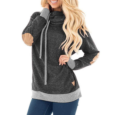 Women's Long Sleeve Cowl Neck Tunic Sweatshirt Loose Tops Pockets