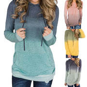 Women Pocket Long Sleeve Hoodies Sweatshirt Pullover Shirt Tops Blouse