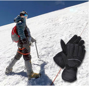 2018 New Fashion Design Winter Electric Heated Mens Gloves Warming Portable Battery Soft Outdoor Sports