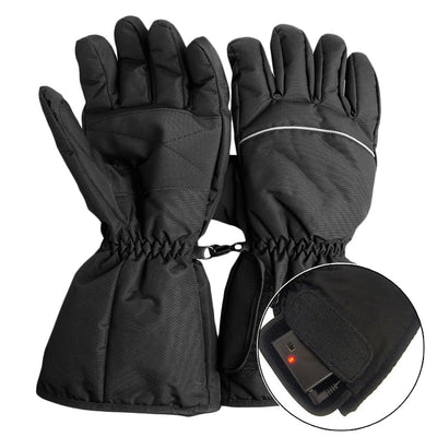 Waterproof Heated Gloves Battery Powered For Motorcycle Hunting Winter Warmer with 3*AA battery  (Battery is not included )