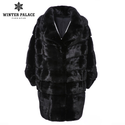 2018 Casual new winter imports fur coat mink high-end mink fur coat Solid real fur coat long new slim fashion coat Thick