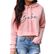 Womens Fashion Letter Print Hoodie Sweatshirt Jumper Pullover Tops Sweatshirt