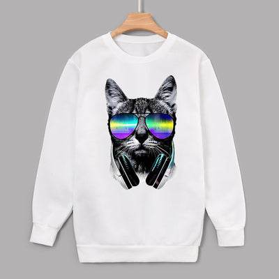 Unisex Casual Long Sleeve Printed Top Blouse Sweatshirt