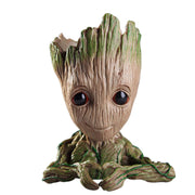 Groot Baby Flowerpot PVC Flowerpot Planter Model Toy Pen Pot Holder Home Table Decoration Christmas Kids Gifts