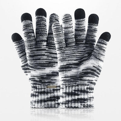 Warm Gradient Cycling Fleece Keep Knitted Screen Winter Fashion Jacquard Unisex Hiking Full Touch Warm Finger Gloves