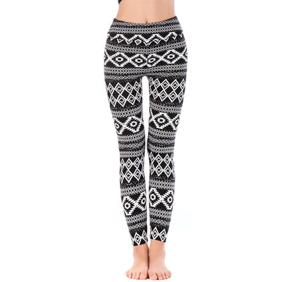 LEGGINGS LADIES/WOMEN COMFORTABLE SPORTS CASUAL PRINT COLOR 10164