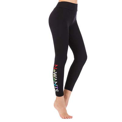 LEGGINGS LADIES/WOMEN COMFORTABLE SPORTS CASUAL COLOR BLACK