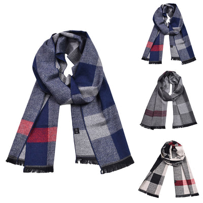 New Mens Winter Warm Long Soft Imitation Plaid Checked Scarves Female Cashmere Plaid Scarves Blanket Wholesale Dropshipping