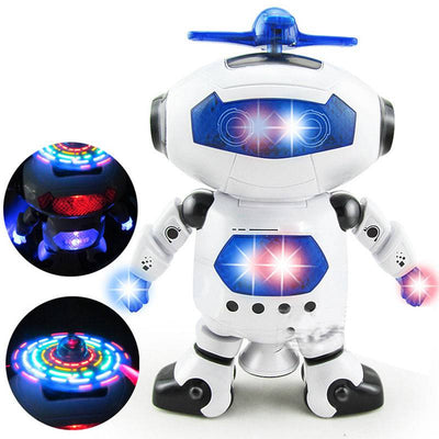Electronic Walking Dancing Smart Space Automaton Astronaut with Music Light Toy Children Electronic Walking Rotating Smart Toys
