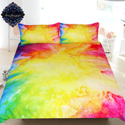 Colorful Vibez by Brizbazaar Bedding Set Splashing Watercolor Duvet Cover Colorful Paintings Bed Set Red Blue Art Home Textiles