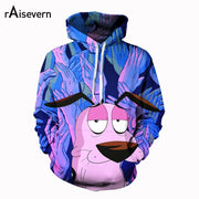 Raisevern Cartoon Dog 3D Print Hoodies Hiphop Men Women Funny Animal Tracksuits Hooded Sweatshirts Pullover Streetwear Dropship