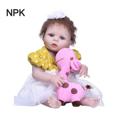 NPK New Handmade Silicone reborn baby Lifelike toddler Bonecas girl kid Christmas cute baby Toys PNLO