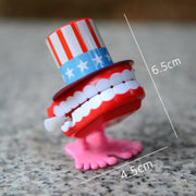 1 pcs 5cm Kids Funny clockwork toy Baby boys teethdesign Running Clockwork Spring Toy reborn baby wind up toy