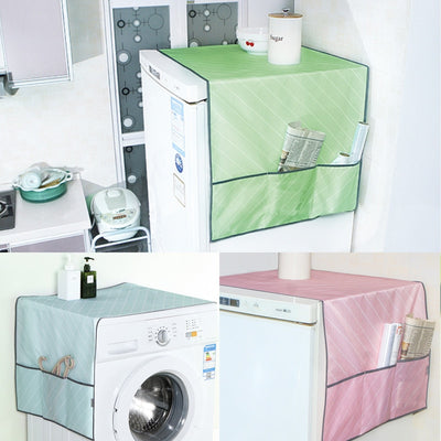 Macaron Color Waterproof Cover Towel Kitchen Refrigerator Dust Cover Household Merchandises Refrigerator Covers With Storage Bag