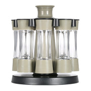 8pcs Rotating Spices Bottles/Set Acrylic Seasoning Rack Salt Pepper Storage Organizer Home Kitchen Tool