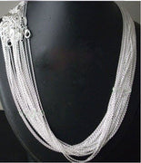 "Promotion! 50pcs/lot 925 stamped Silver Plated 1mm Link Rolo Chains 16"",18"" ,20"",22"",24 inch,925 men / women's Jewelry Chains"