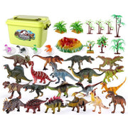 20 Types Dinosaur Simulation Model Building Toy 34Pcs Children Early Education Cognition Learning Figure for Kid Birthday Kits