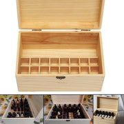 32 Slots Essential Oil Aromas Wooden Box Storage Case Organizer Aromatherapy With Handle