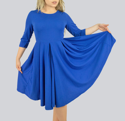 Kiss Pleated Dress with Pockets