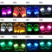 12 Color LED Flashing Gloves Glow Light Up Finger Lighting Xmas Dance Gloves Party Rave