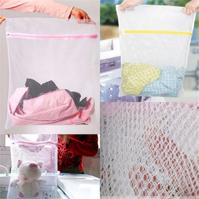 Lingerie Washing Home Use Mesh Clothing Underwear Organizer Washing Bag Mesh Net Bra Wash Bag Zipper Laundry Bag