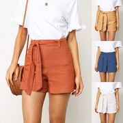 Fashion Women Sexy Strap Casual Solid Color Wash Cotton Shorts Pants