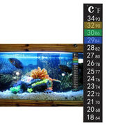 Dual Aquarium Fish Tank Thermometer Temperature Sticker Stick-on Fahrenheit
