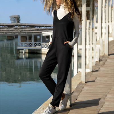 Women Spaghetti Strap Wide Legs Bodycon Jumpsuit Trousers Clubwear Rompers