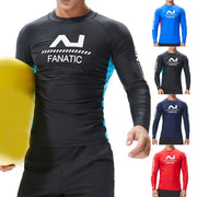 Men's Fashion Coloured Alphabet Sea Surfing Suit Quick Dry Tights Top Blouse