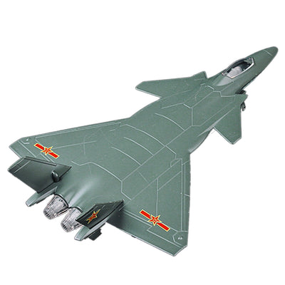 New Arrive 51433A J20 Model Fighter Alloy Pull Back Air Plane Model Building Kit with Sound and Light for Boys Gift Playing Kits