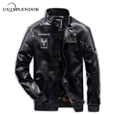 2019 Cool Men Motorcycle Leather Jackets Man Casual Bomber Jackets Solid Male Brand Coats Autumn Spring Boy Streetwear YN10308