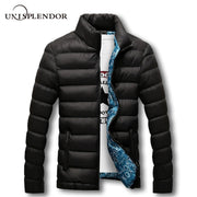 unisplendor Winter Men Jacket 2019 Brand Casual Mens Jackets And Coats Thick Parka Men Outwear 4XL Jacket Male Clothing YN668
