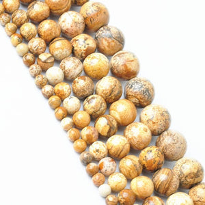 Sale Space Loose Beads DIY Jewelry Making For Necklace Bracelet 4-12mm Natural Brown Stone Hand Made