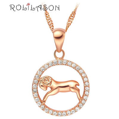 12 constellations Round Aries design glittering yellow gold tone Fashion Jewelry Necklace pendant mother's day hand made LN599