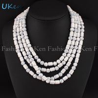 UKEN classic Fashion Hand Made Acrylic Beaded Chain Necklaces Women Casual Dress National Style Choker Jewelry Ornament N2679