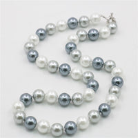 "2018 New Fashion 10mm Multicolor South Sea Shell Pearl Necklace Beads Hand Made Jewelry Natural Stone 18""BV418 Wholesale Price"