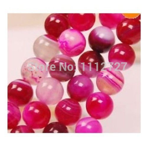 Fashion Jewelry 8mm Pink Onyx Loose Bead Natural Stone Hand Made Accessory Parts For Necklace Bracelet 15 MY4241 Wholesale Price
