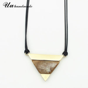 Maxi Statement For Pingente Colar Feminino Choker Pendant Necklace Women Jewelry Collares Mujer Charms Geometric Triangle 2018