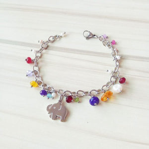 Lanseis Hand Made Colorful Lucky Happy Elephant, 1Pcs Beads For Jewelry Making New Year DIY Fashion Jewelry For Women